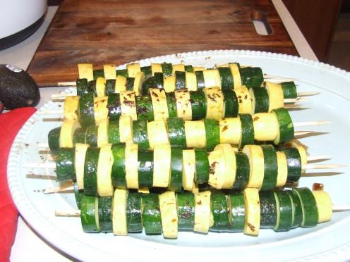 Vegies On A Stick Prepared by Daniel Ray.