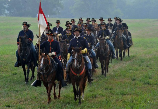 Living Historians portray a Cavalry Unit
