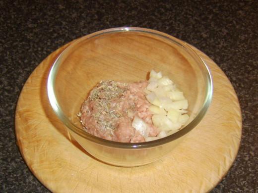 Pork, sage and onion burger patty ingredients