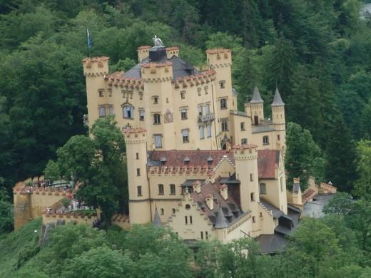 The Hohenschwangau from the Neuschwanstein