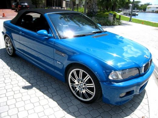BMW M3 (E46 Convertible) in Laguna Seca Blue