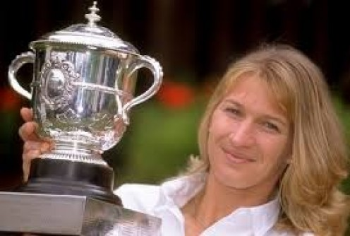 Steffi Graf is a very successful Tennis player who has won numerous tournaments in singles and doubles competition.