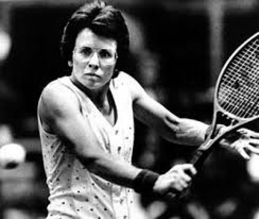 Billie Jean King was a great tennis player and she became a mainstream celebrity of sorts during her career.