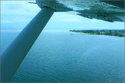 Flying out of Dangriga