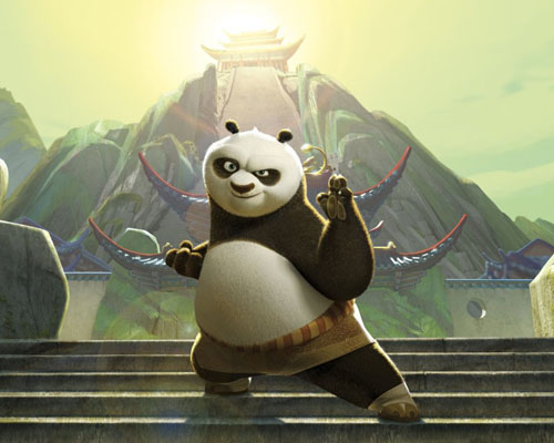 """In the """"Valley of Peace,"""" Po Ping serves as the  Dragon Warrior to protect his home."""