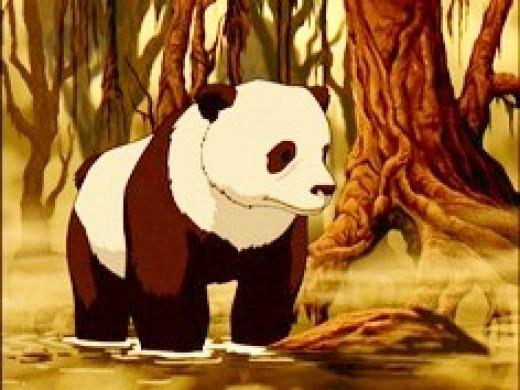 Hei Bai as a docile panda.