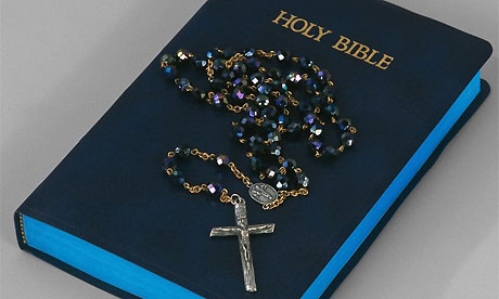 The Roman Catholic rosary beads are used for the 15 meditations of the mysteries of Mary and Jesus