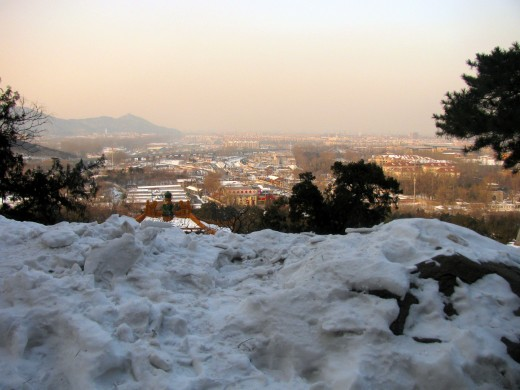 Snow over Beijing