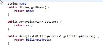 The code gererated by ECLIPSE is included in our resources file.