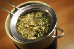 Chamomile in Tea Strainer