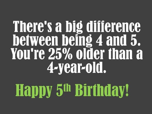 Math Related 5th Birthday Wish