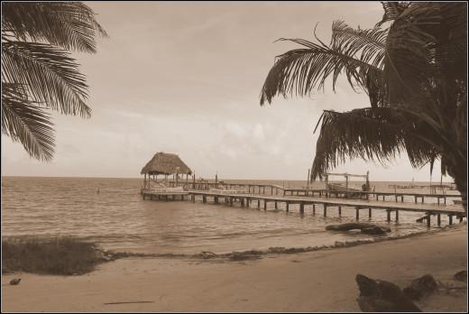 Barefoot Beach Belize jetty