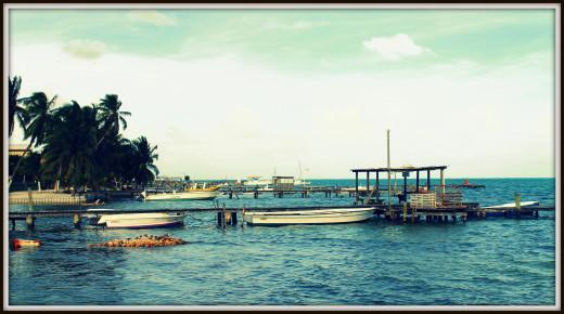 Caye Caulker jetties