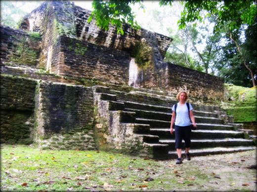 Ruins of the Mayan satellite city of Cahal Pech.