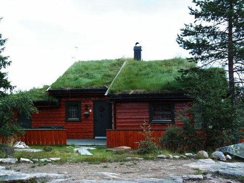 A ski hut in Norway.