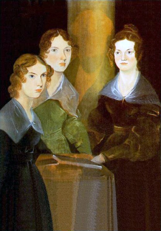 Anne, Emily, and Charlotte as painted by their brother Branwell.