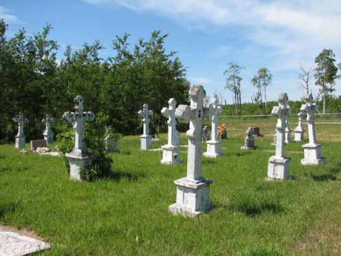 image of a cemetery.
