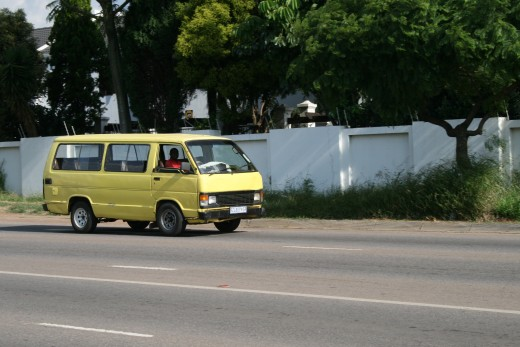 A typical minibus taxi