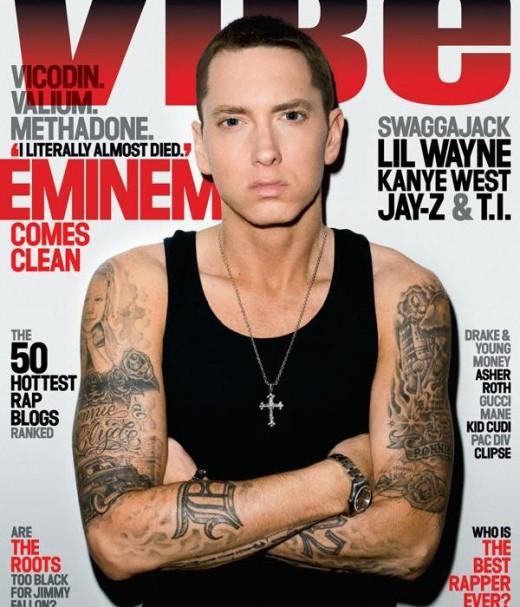 Eminem on the cover of VIBE magazine