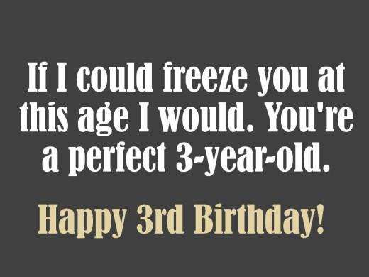 Sweet 3rd Birthday Message