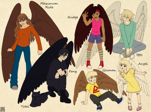 A reader's interpretation of Maximum Ride and Friends.