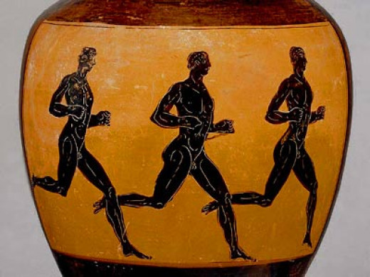 Running in the ancient Greek Olympics