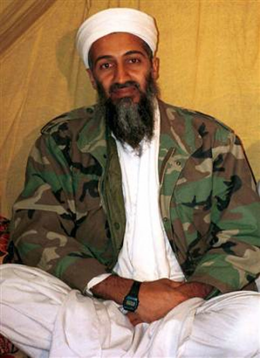 Osama bin Laden, pictured with a Casio F-91W stopwatch