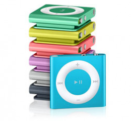 The Apple iPod shuffle which has a built-in clip so runners can listen to music on-the-go