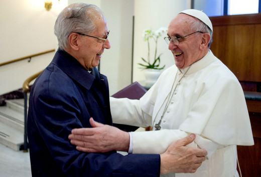 Jesuit Pope Francis and the Jesuit Superior General Adolfo Nicolas. Who serves who?