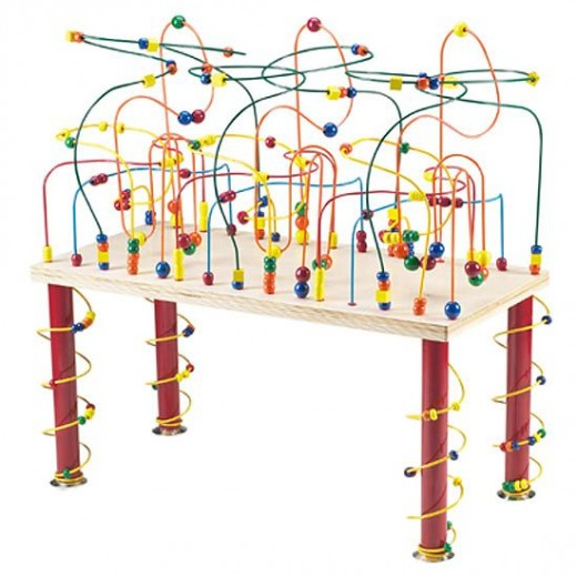 The Jungle Rollercoaster Table shown here is only one style of play table.  They come in all shapes and sizes.  One is even shaped like a tooth!
