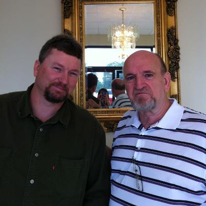 Me, (right), and my good pal, David Holliday at our church.
