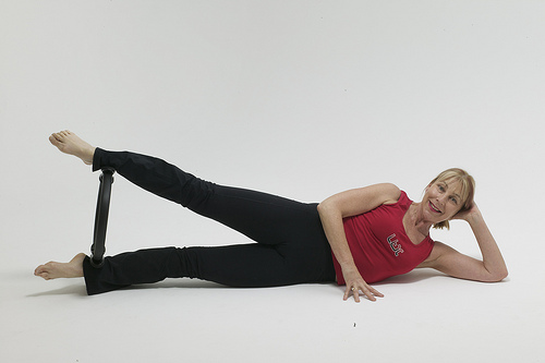 One way to use pilates bands.