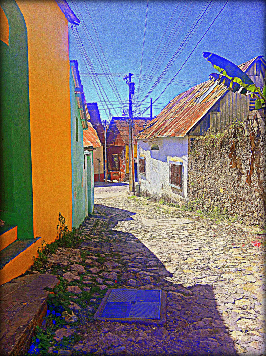 Cobbled streets of Flores Island
