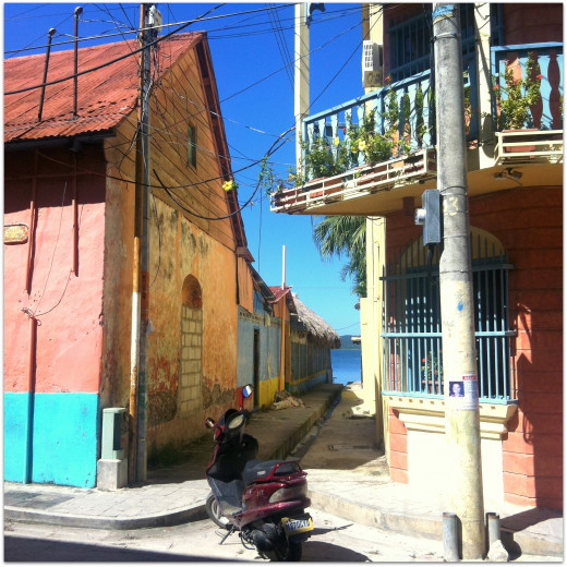Coloured buildings of Flores