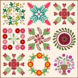Create this Album Style quilt design using software.