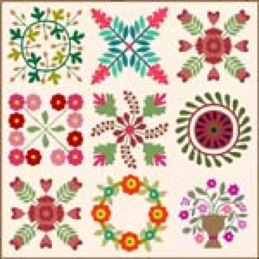 Create this Album Style quilt design using software.