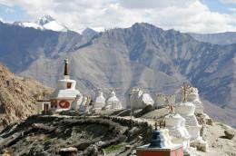 The Buddhist Stupas on Hilltop