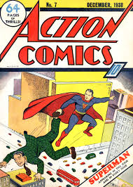 Superman makes his second cover appearance in Action Comics # 7.