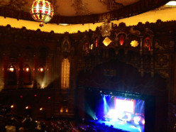 Inside the Fox Theater, you can see the stage for the Edible Inevitable Alton Brown Show.  It was great fun!