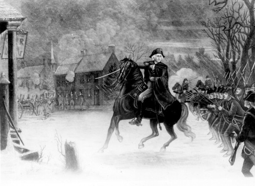 General Washington at the Battle of Trenton, engraving by the Illman Brothers in 1870