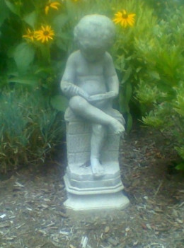 Garden statue at our public library