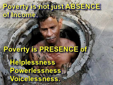 Poverty can't be measured in money.