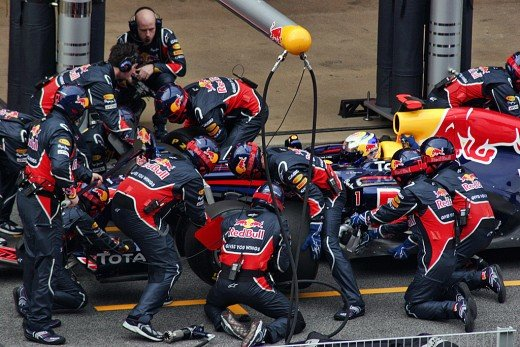 A formula-one tire change is an example of SMED