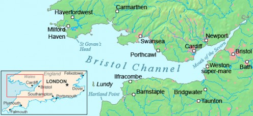 Burnham-on-Sea is just south of Weston-super-Mare, below the narrow promontory of Brean Down