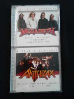 """Megadeth's CD recycles tracks from 2002's """"Rude Awakening,"""" while Anthrax's is taken from 2004's """"Music of Mass Destruction"""""""