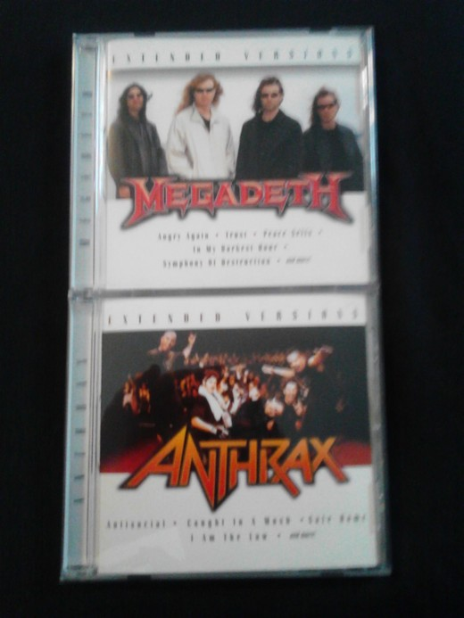 "Megadeth's CD recycles tracks from 2002's ""Rude Awakening,"" while Anthrax's is taken from 2004's ""Music of Mass Destruction"""