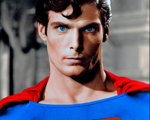 Christopher Reeve as Superman (1978).
