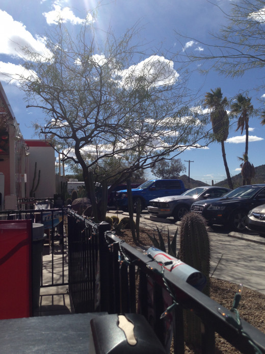 Outdoor hamburgers in Cave Creek, AZ