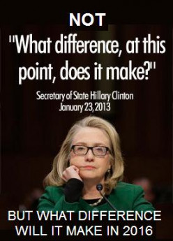 If Hillary runs for President in 2016 will her Benghazi scandal affect your vote? Why or why not?
