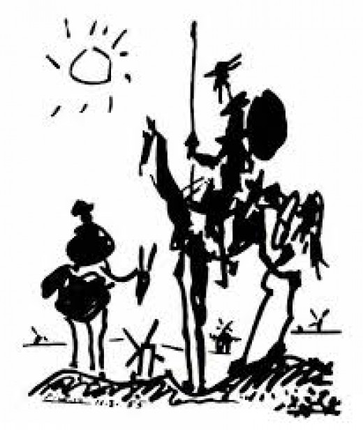 This is probably the most popular Don Quixote illustration ever...